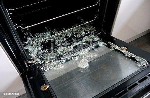 istock Exploded inner glass in oven door 886045860