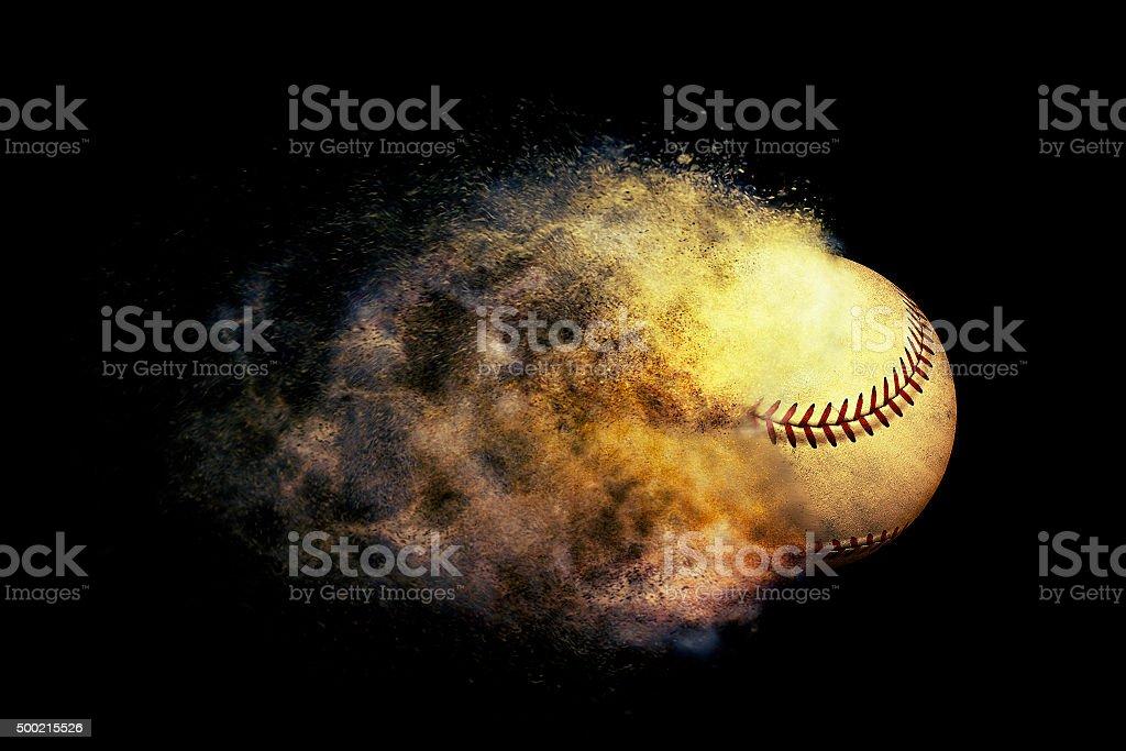 exploding baseball stock photo