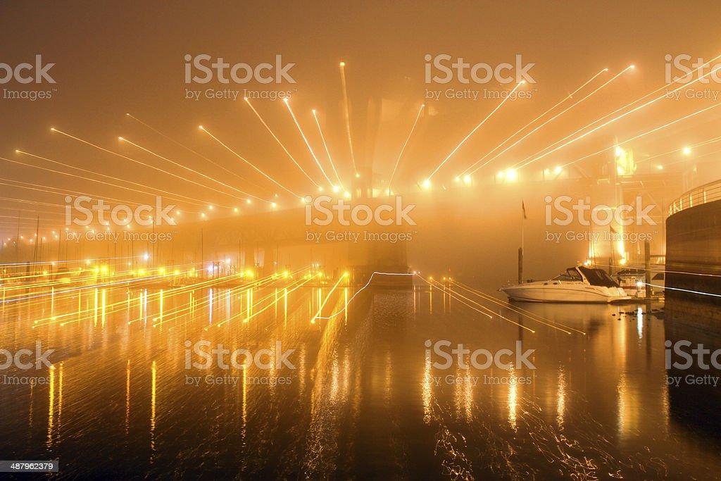 Exploding Bridge royalty-free stock photo