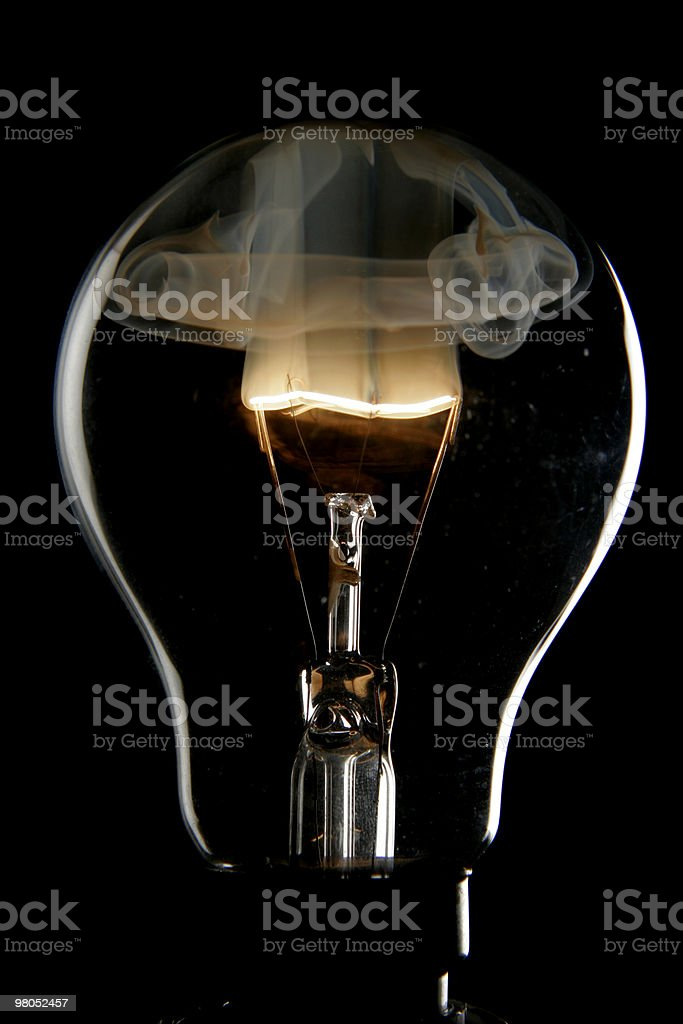 Exploding bulb royalty-free stock photo