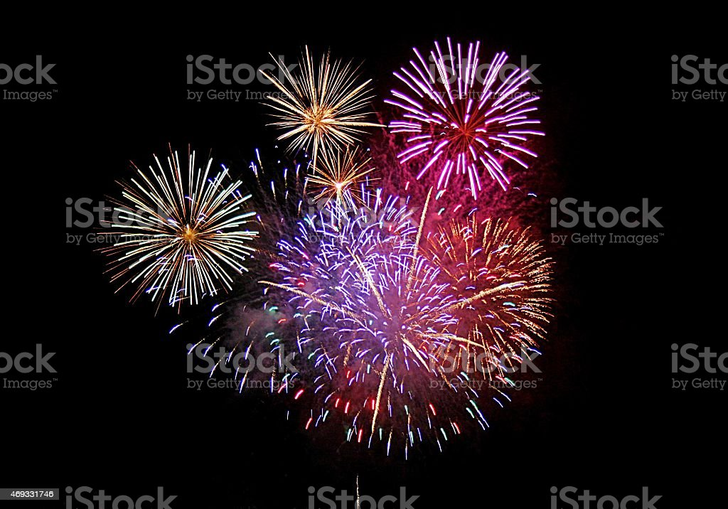Exploding Fireworks royalty-free stock photo