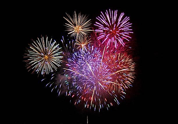 Exploding Fireworks stock photo
