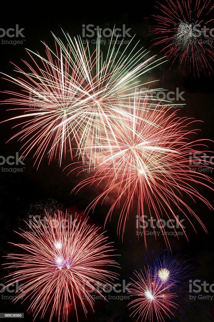Exploding Fireworks royalty-free stock photo