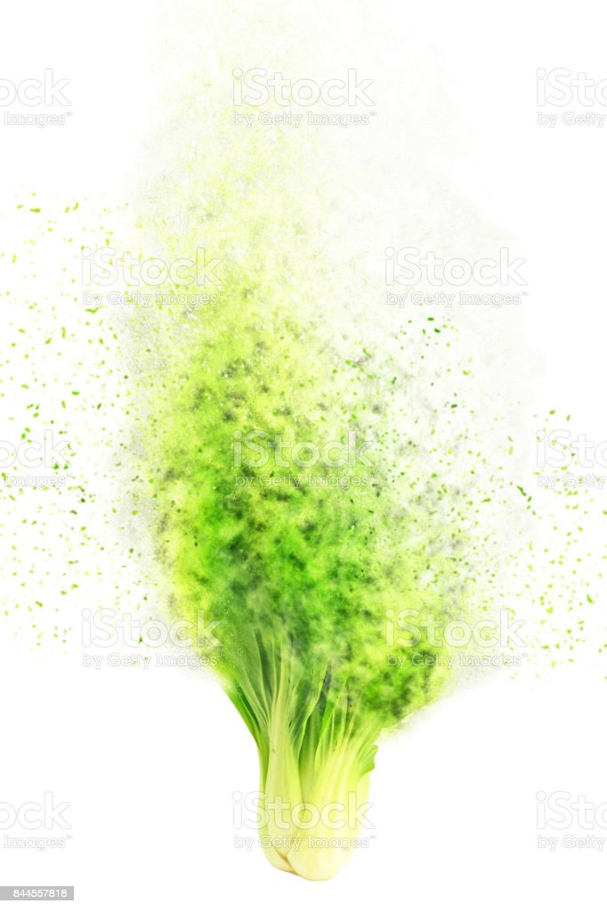 exploding fruit and vegetables stock photo