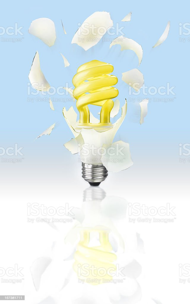 Exploding Light Bulb royalty-free stock photo