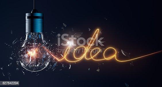 istock Exploding Light Bulb 527542204