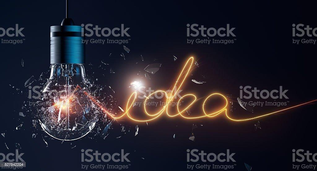 Exploding Light Bulb stock photo