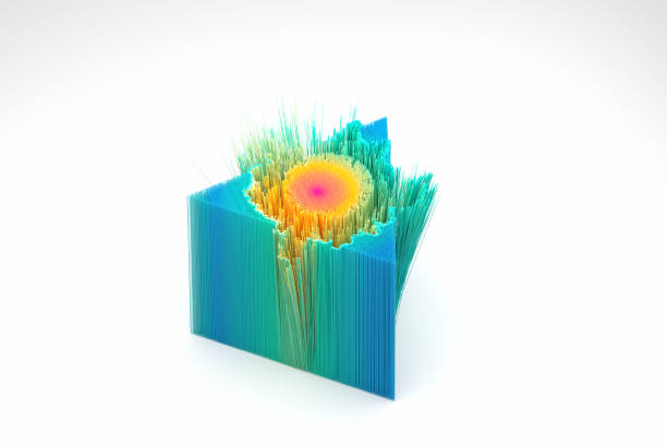 Explodierender mehrfarbiger Graph – Foto