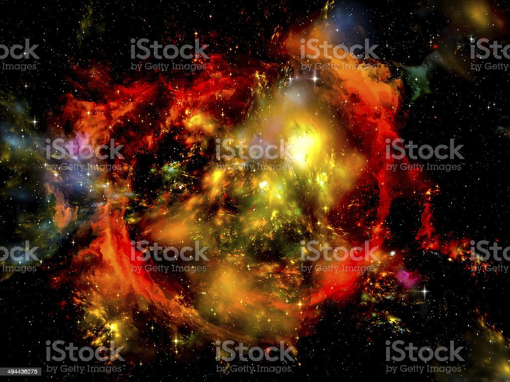 Exploding Nebula stock photo