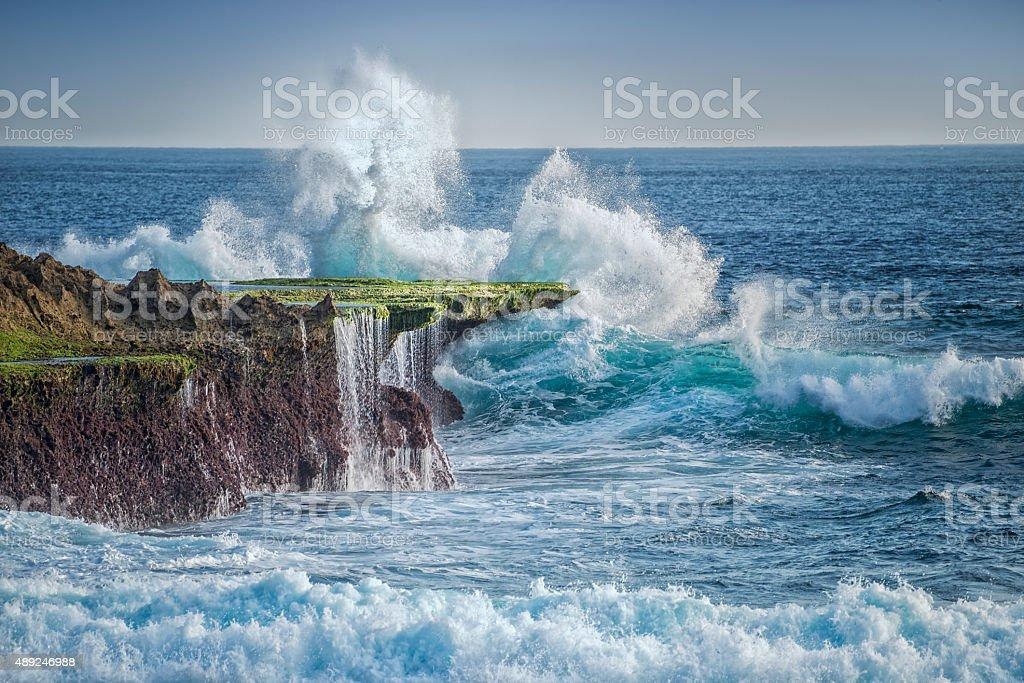 Exploding Wave stock photo
