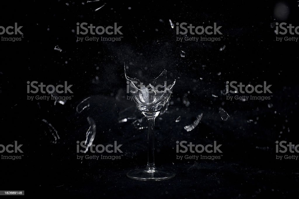 Exploding Wine Glass stock photo