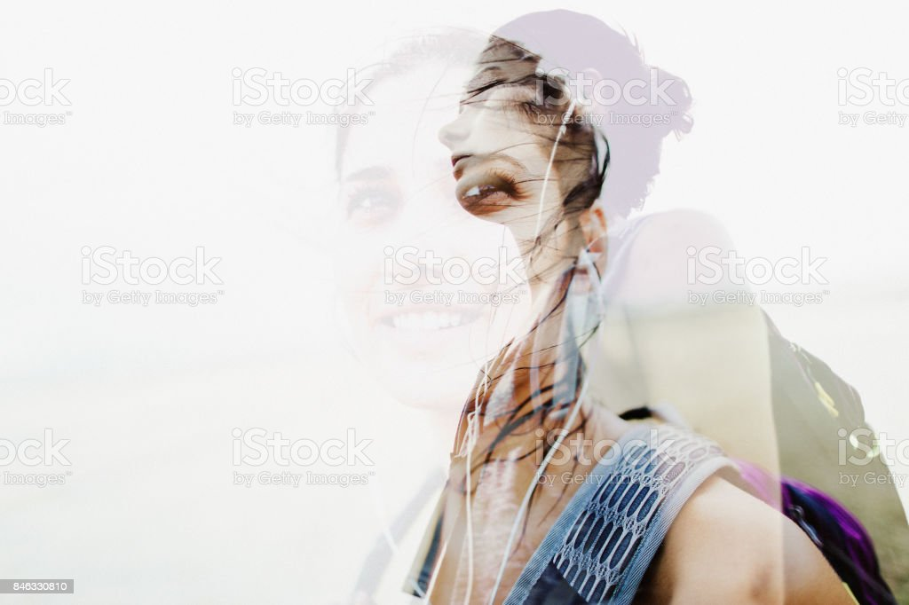 Exploration addict stock photo