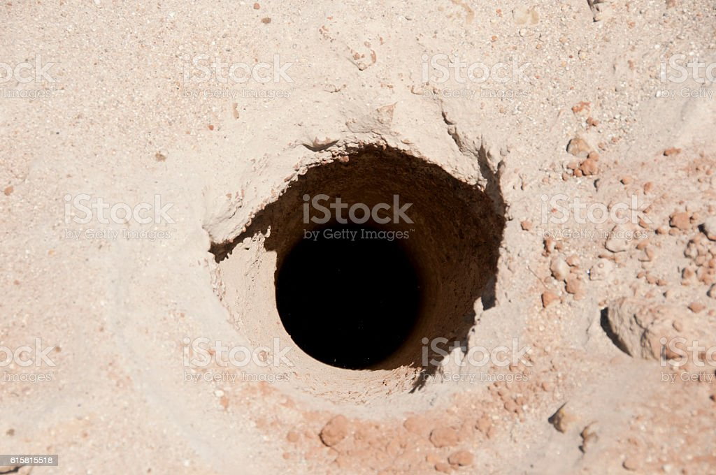 Exploration Drill Hole stock photo