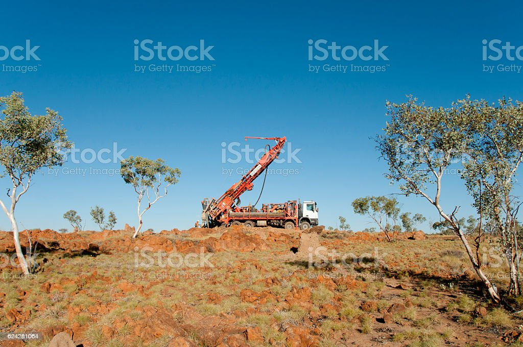 Exploration RC Drilling stock photo