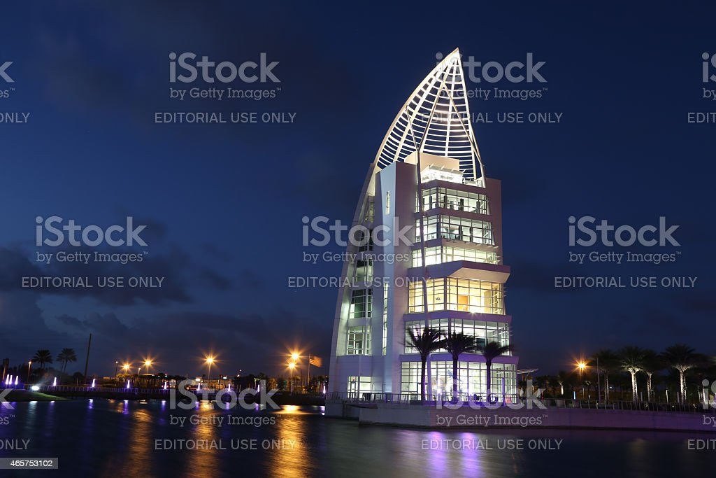 Exploration Tower at Port Canaveral stock photo