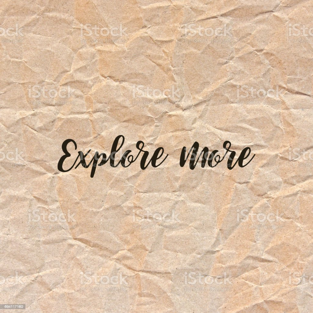 Explore more on brown crumpled paper stock photo
