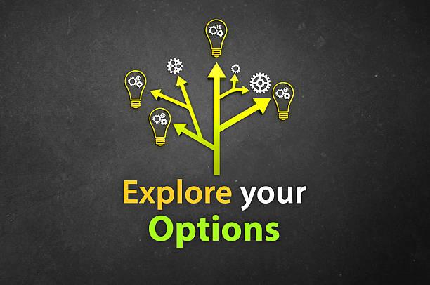 Explore your Options stock photo