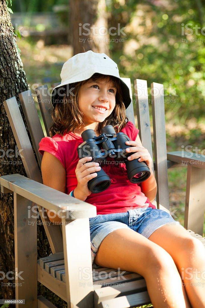 Explorer criança - foto de acervo