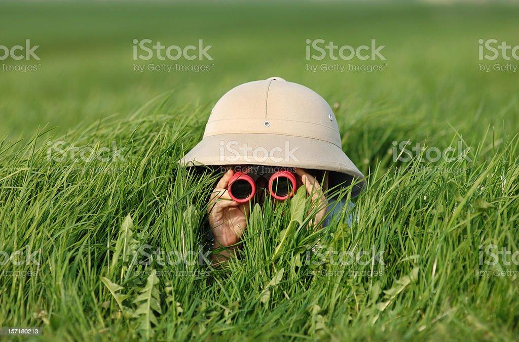 Explorer no campo - foto de acervo