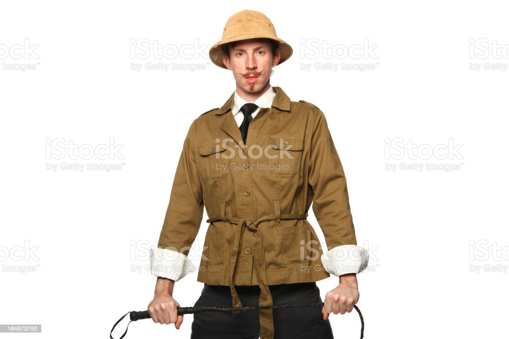 Explorer Standing Confidently stock photo