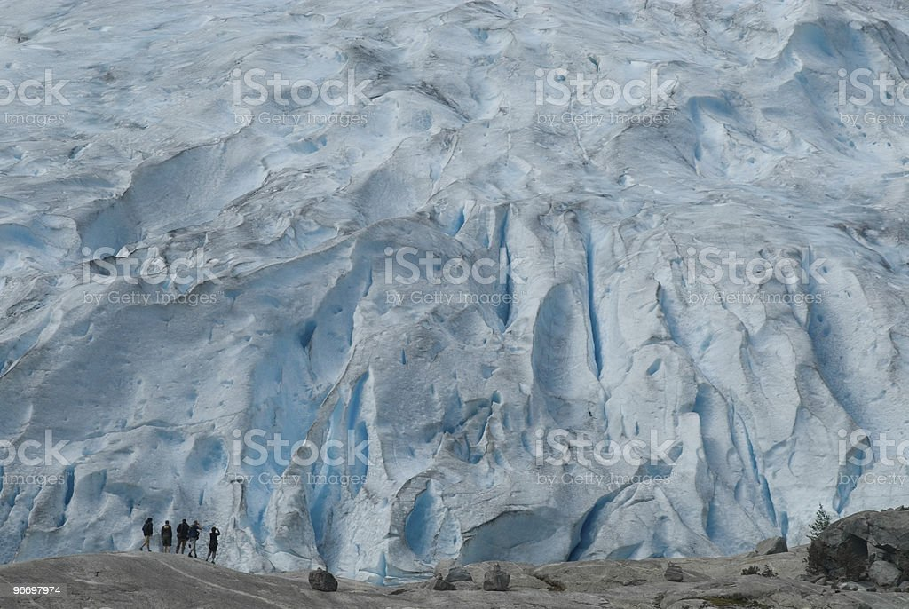 Explorers on extreme mountain royalty-free stock photo