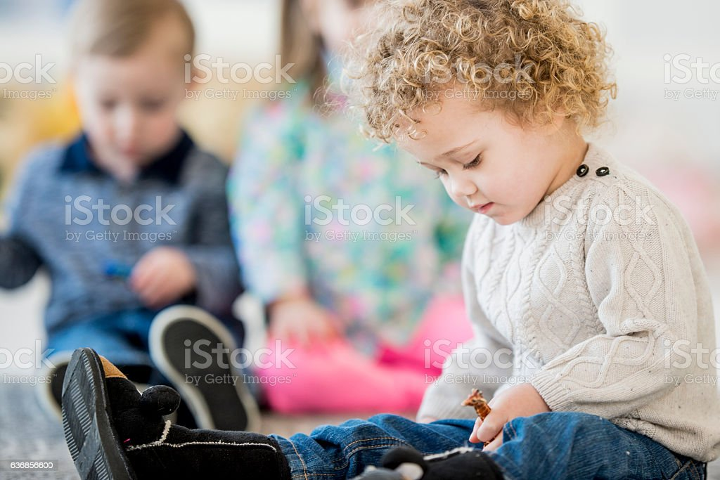Exploring and Playing in Class stock photo