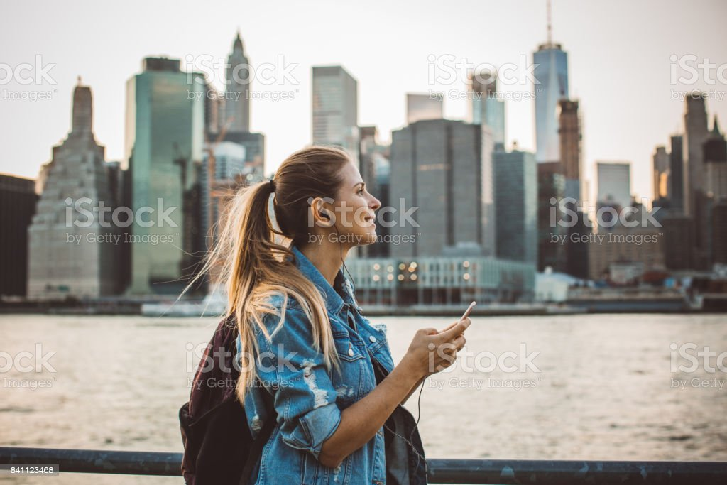 Exploring city stock photo