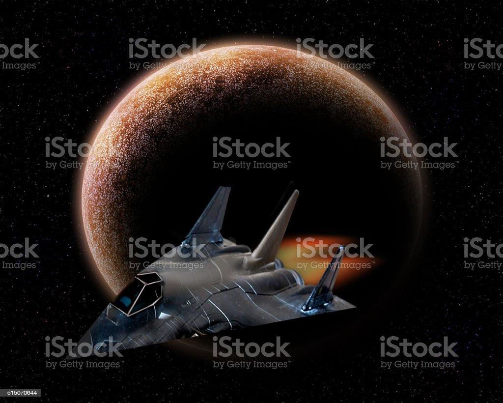Exploring deep space. stock photo