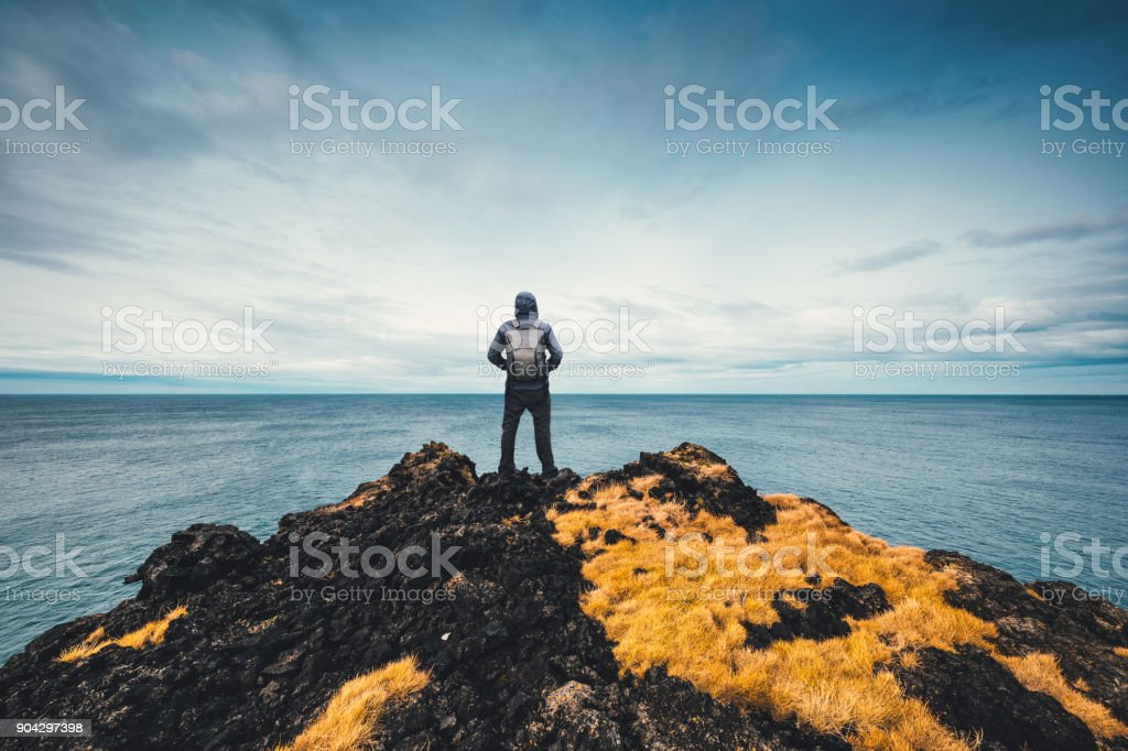 Exploring Iceland stock photo