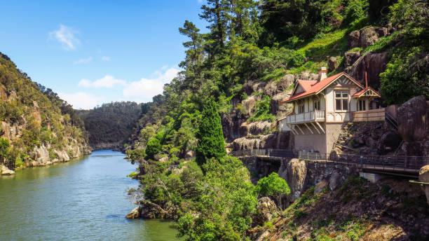 exploring launceston in tasmania - tasmania stock photos and pictures