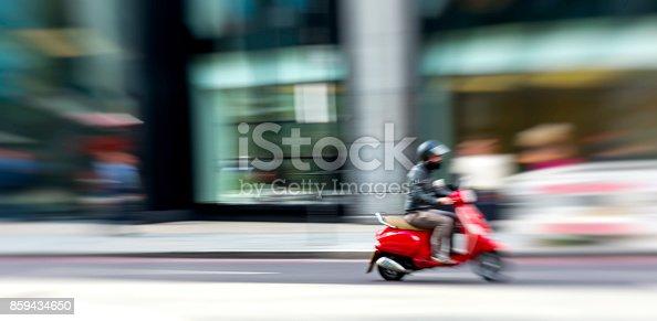 Exploring London on motorbike