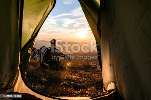 istock Exploring nature and taking a break 1055897650