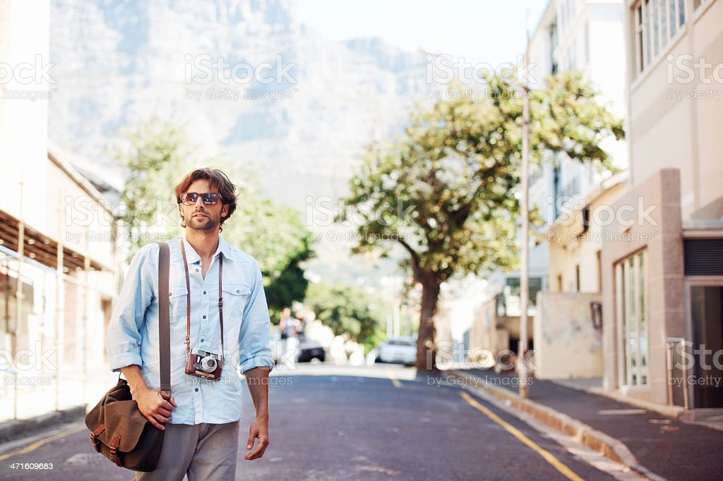 Exploring new places royalty-free stock photo