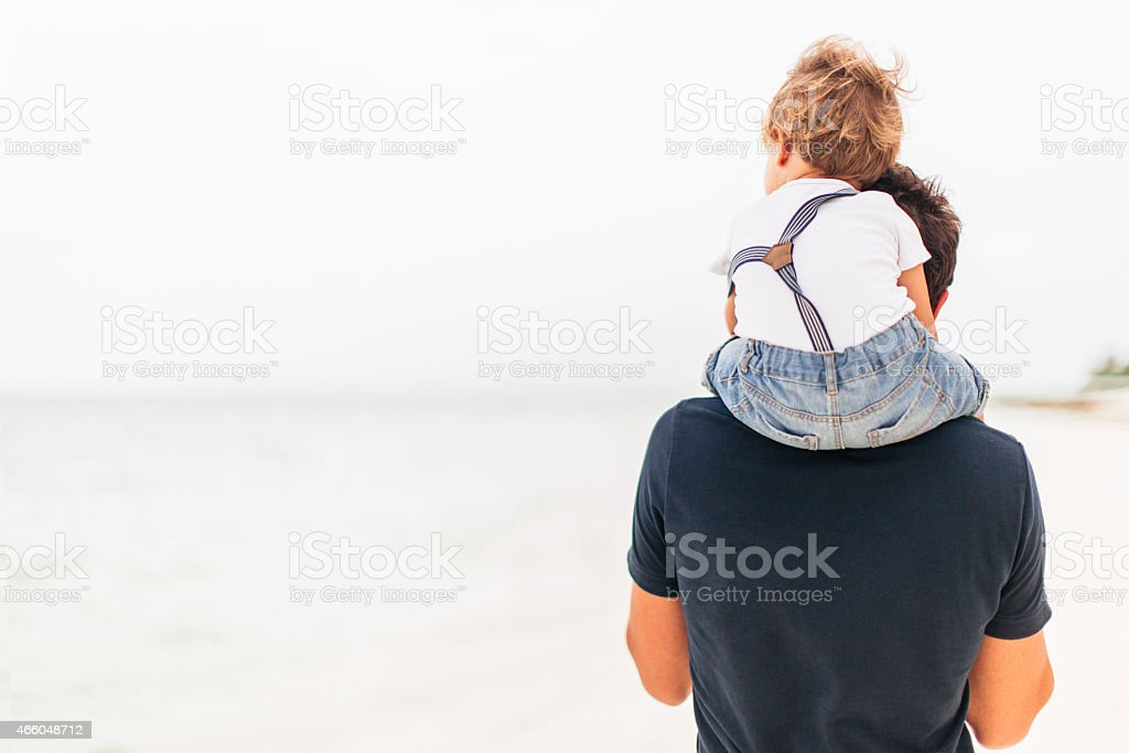 Exploring the beach together stock photo