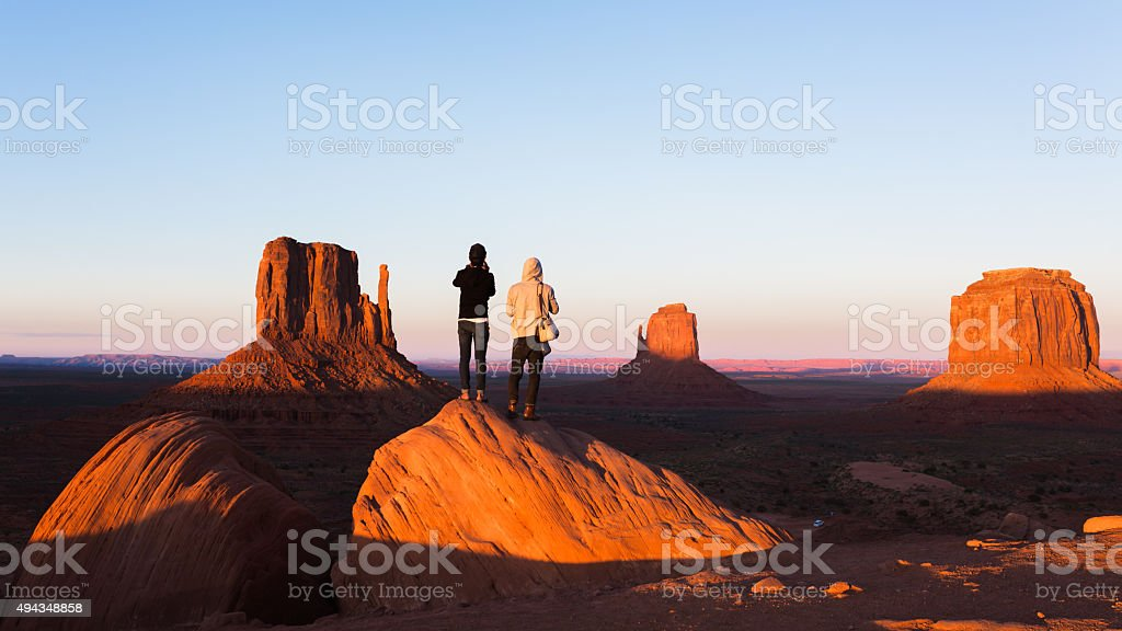 Exploring the Monument Valley stock photo