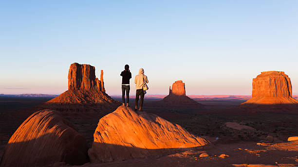exploring the monument valley - natural landmark stock pictures, royalty-free photos & images