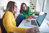 istock Exploring the online world with the mom 621265318