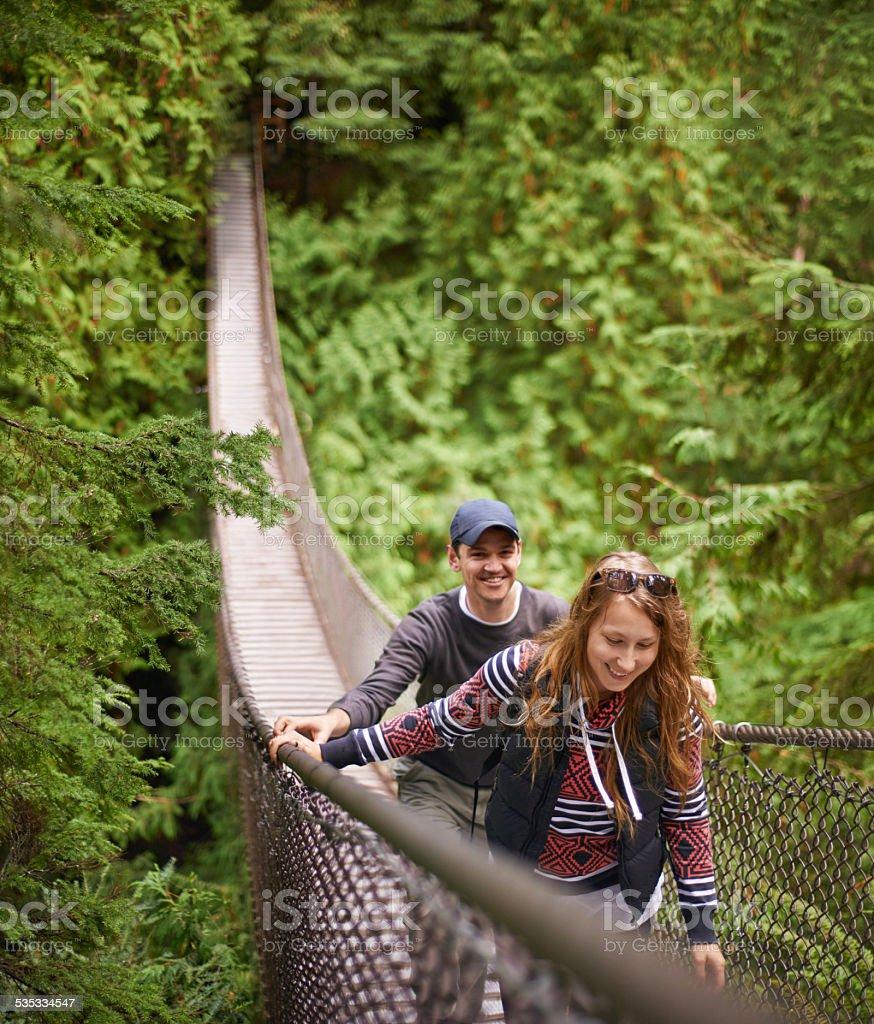 Exploring their natural environment stock photo