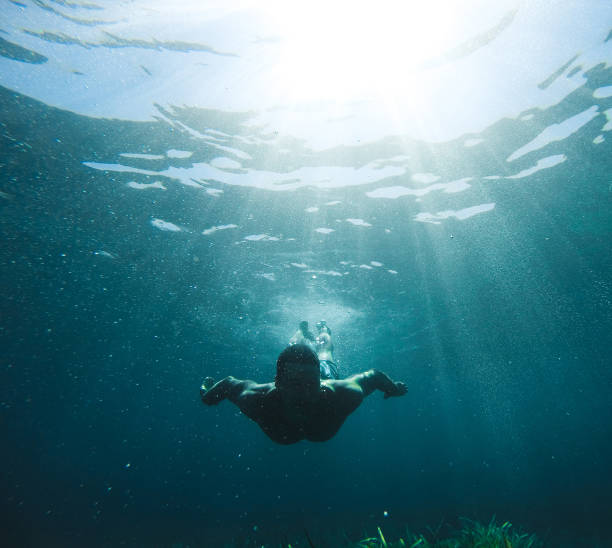 exploring under the water - deep stock pictures, royalty-free photos & images