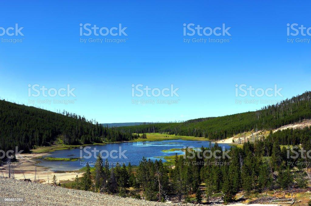 Verkennen van Yellowstone - Royalty-free Beroemde plaats Stockfoto