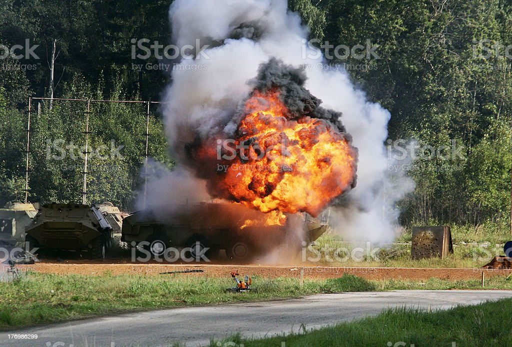 Explosion a flame stock photo