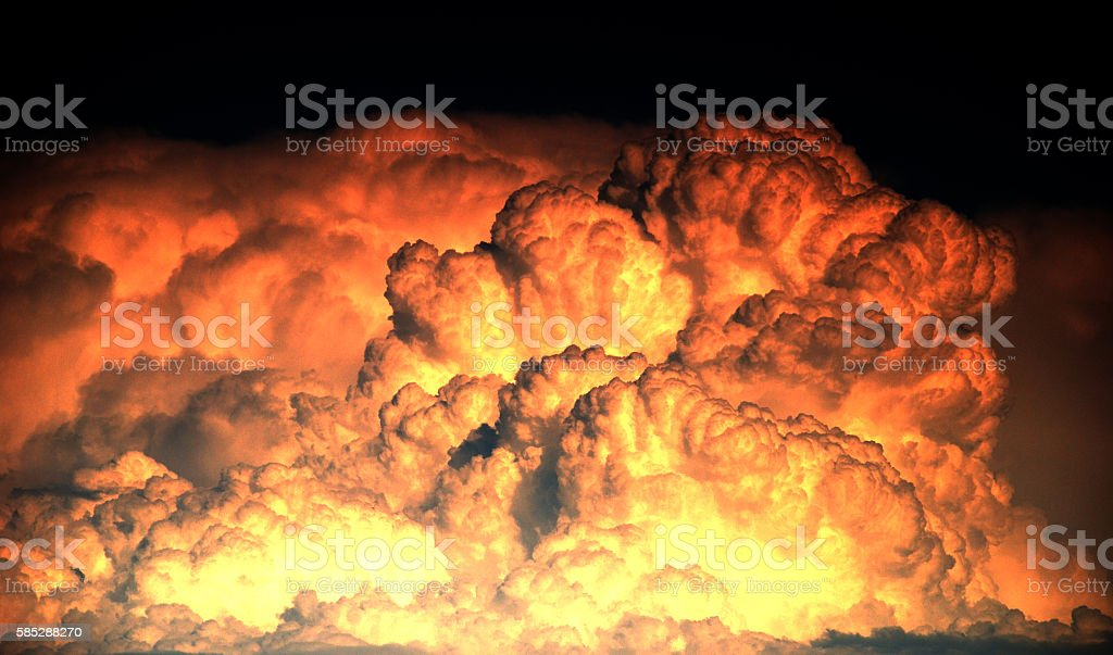 Explosion and big fire texture background stock photo