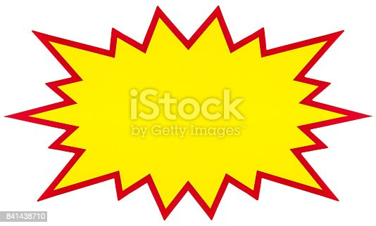 istock Explosion, blank pop art speech bubble isolated on white 841438710