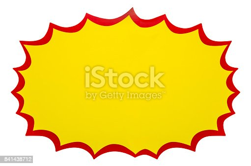 istock Explosion, blank pop art speech bubble isolated on white 841438712