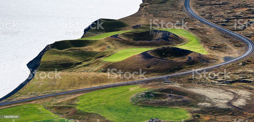 explosion crater royalty-free stock photo