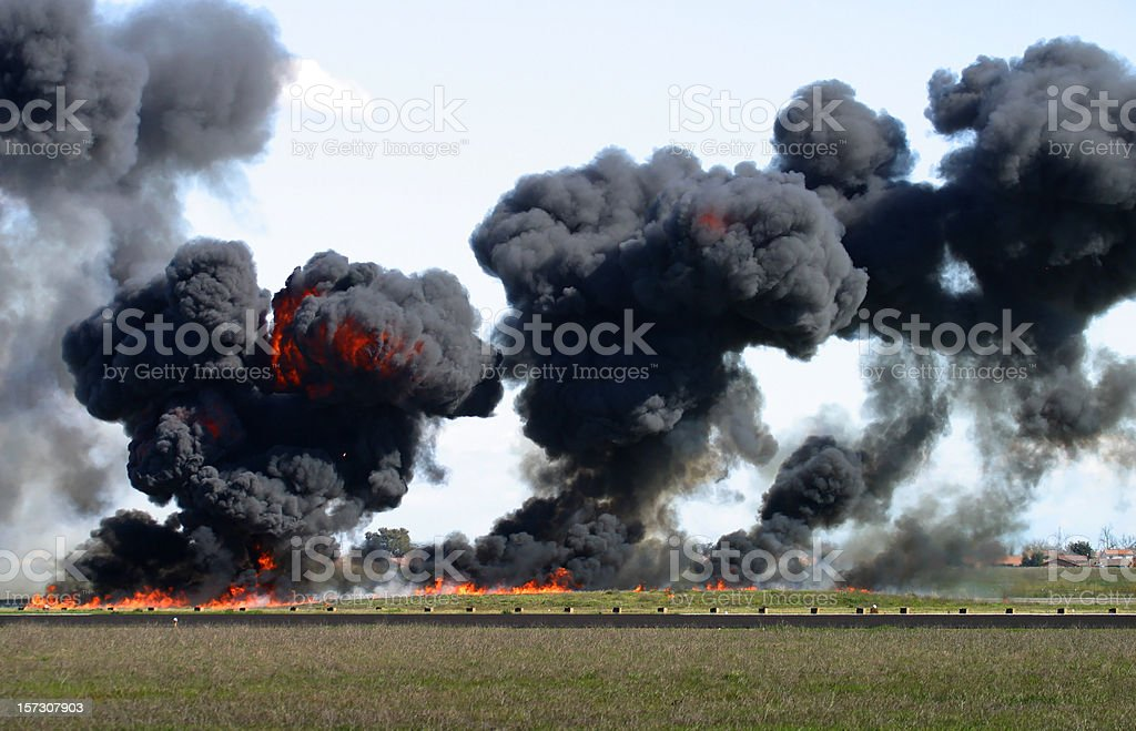 Explosion, Fire, and Smoke stock photo