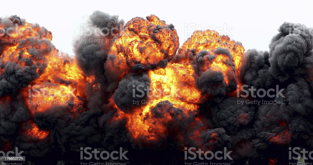 Explosion Fireball. stock photo