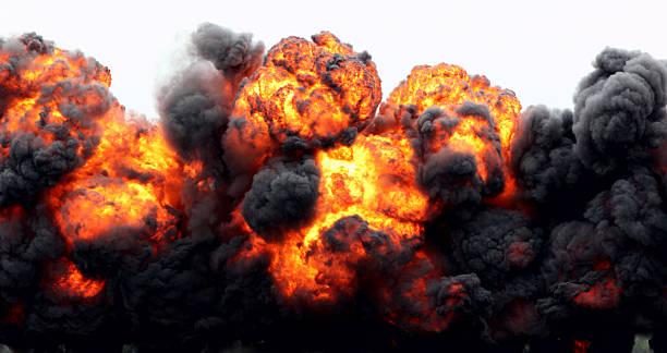 爆発火の玉ます。 ストックフォト