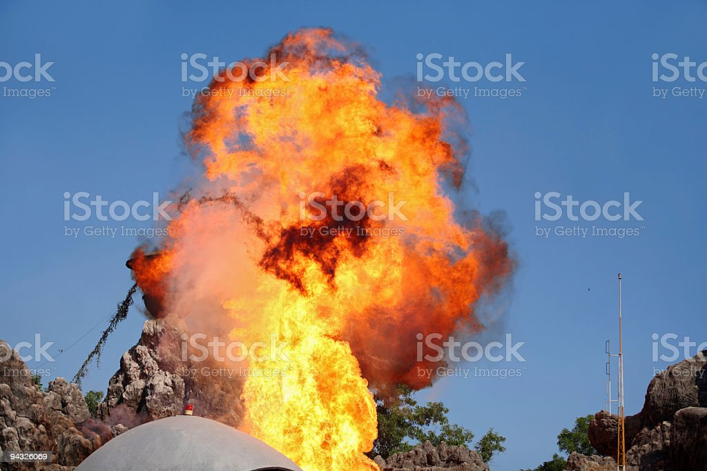 Explosion in mountain . royalty-free stock photo