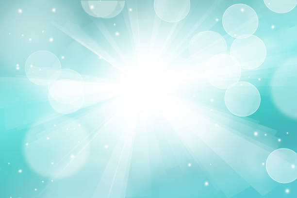 Explosion light burst and bokeh blue Abstract white light burst, festive bokeh on blue background. Explosion light burst and bokeh turquoise colored stock pictures, royalty-free photos & images